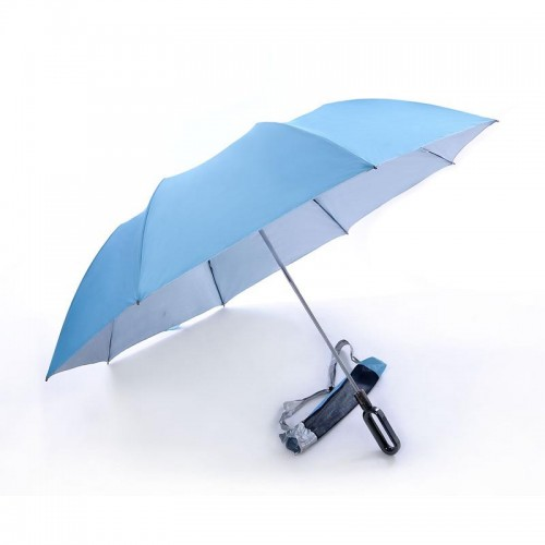 2 Fold, Windproof, Foldable Golf Umbrella (Light Blue)-HKGFA26PSW-LB