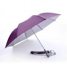 2 Fold, Windproof, Foldable Golf Umbrella (Purple)-HKGFA26PSW-PUR