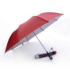 2 Fold, Windproof, Foldable Golf Umbrella (Red)-HKGFA26PSWRED