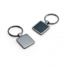 Gun Metal Keychain in Square Shape