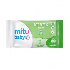 Mitu Baby Antiseptic Wipes Refreshing Lime -10 sheets per pack ( 2 packets in a pack)