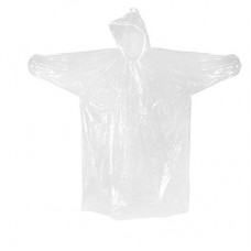 PONCHO WITH DRAWSTRING HOOD