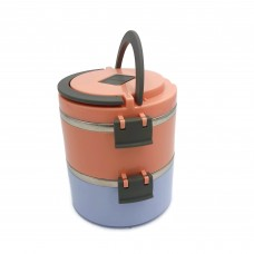 ROUND THERMOS TIFFIN STAINLESS STEEL LUNCH BOX