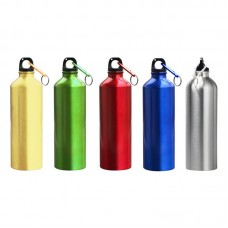 Aluminium Bottle with Carabiner (Metallic Colours)
