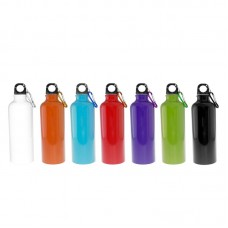 Aluminium Bottle with Carabiner (Solid Colours)