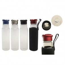550ml Glass Bottle with Black Neoprene Pouch