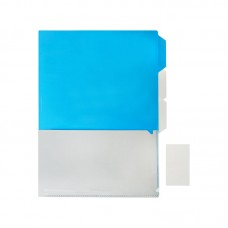 A4 Size Document Folder Blue/Grey (PP)