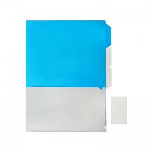 A4 Size Document Folder Blue/Grey (PP)