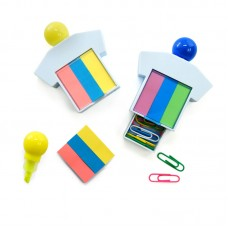 Highlighter with Sticky Notepad & Paper Clips