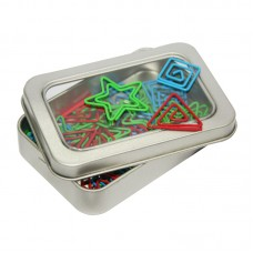Assorted Shapely Clips In Tin Box