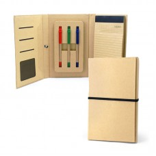 Eco-Friendly Notepad with 3 Colours Ball Pen