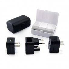 Travel Adaptor With 2 USB in PU Case