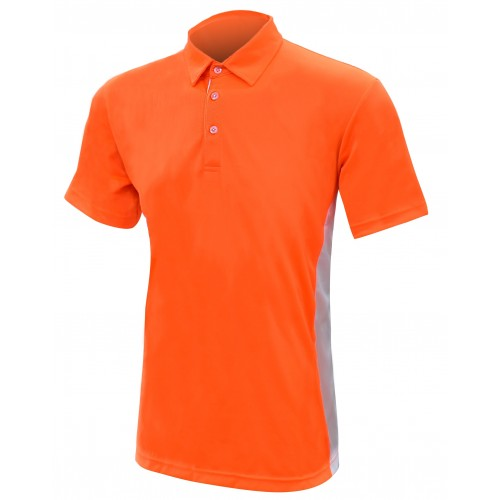 Polo  Shirt Orange with Grey Vented